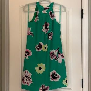 Green J. Crew dress